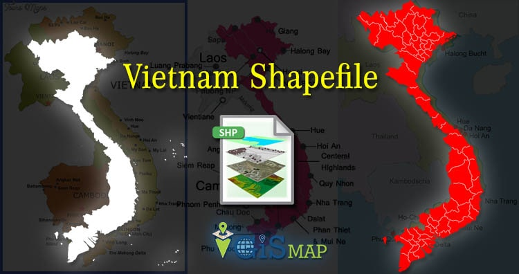Vietnam Shapefile download – country boundaryline, polygon