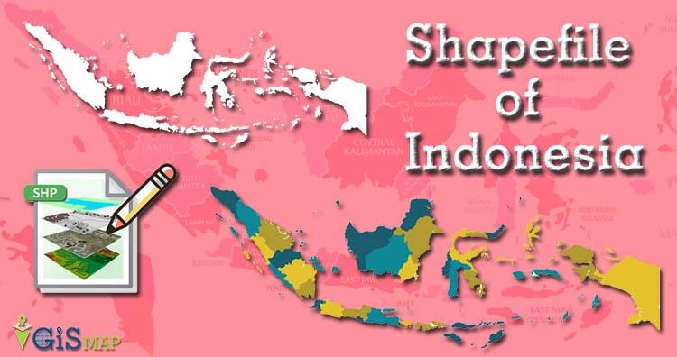 Indonesia Shapefile Download free map - country boundary line