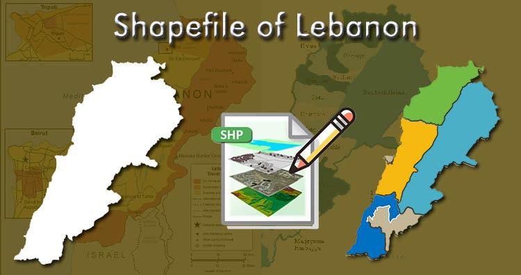 Download Lebanon Shapefile free map – country boundary line, polgon shapefile