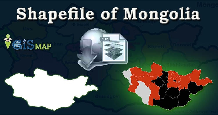 Download Mongolia Shapefile – Country city boundary, polygon shapefile