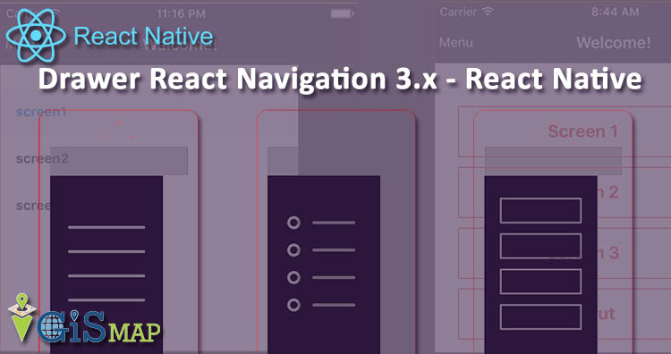 Drawer React Navigation 3.x - react native