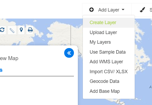 Create Map Layer - Point, Polygon, Multiline