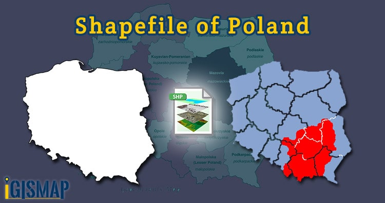 Poland Shapefile download – Country Boundary, administrative polygon – provinces sub-divsions