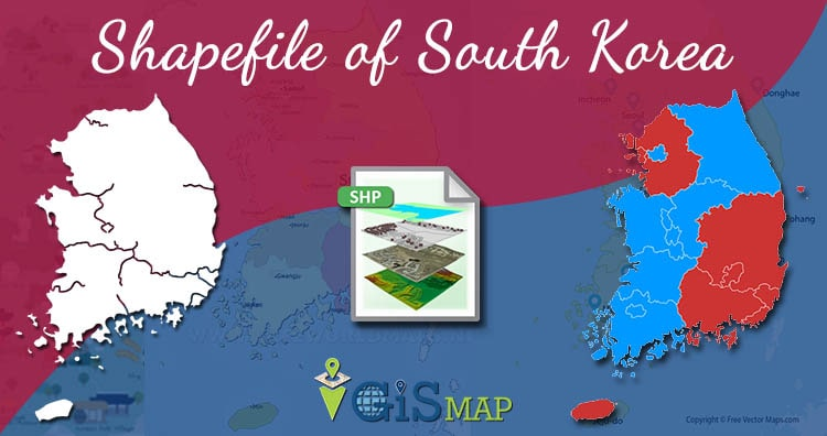 Download South Korea Shapefile – Country Boundary