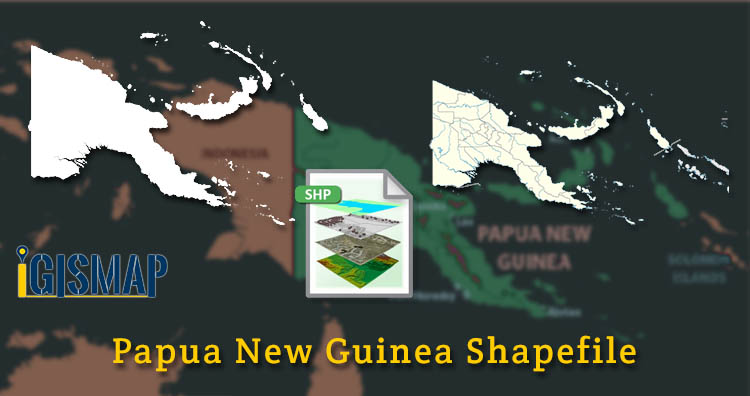 Download Papua New Guinea Shapefile – Country Boundary Line, Regions and division area map