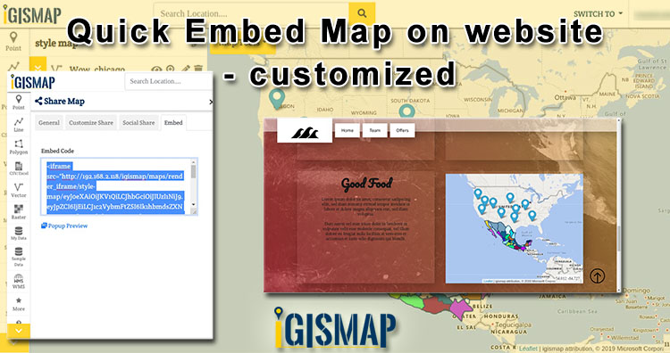 Quick Embed Customized Map on website