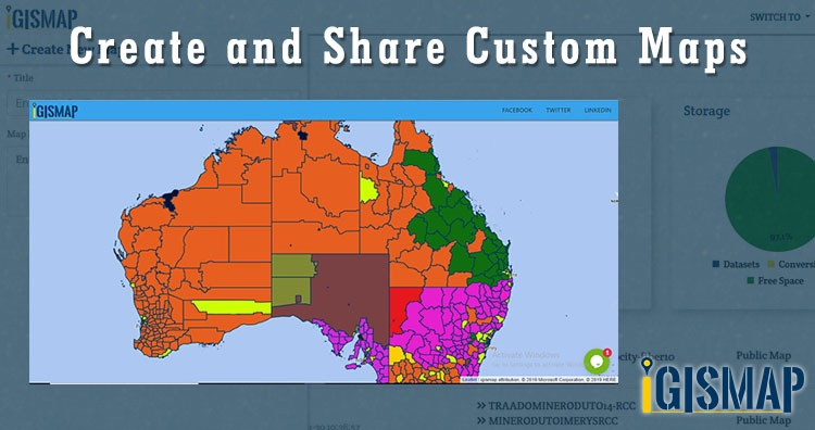 Create and Share Custom Maps - Add on Website, Social Sites Share