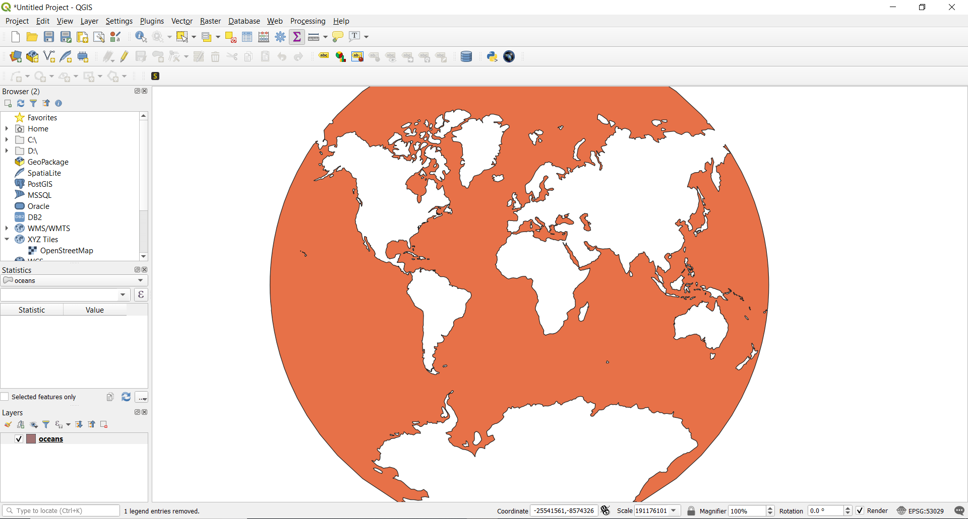 QGIS Tutorial - Vector Analysis - Create New Projection