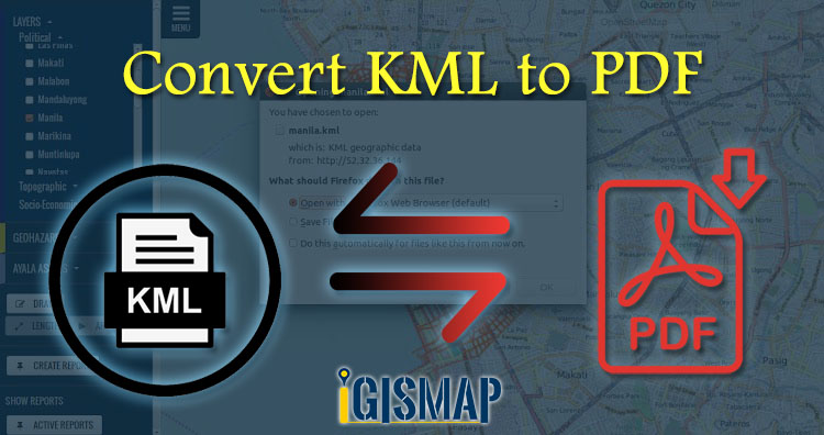 Convert KML to PDF