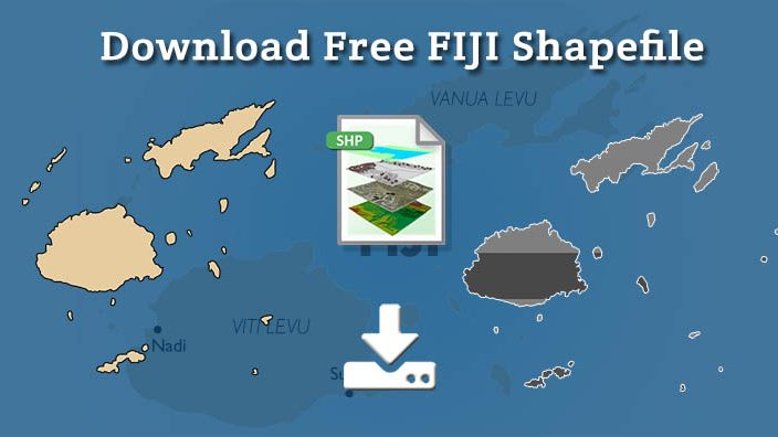 Download Fiji Shapefile free – City, polygon, boundary