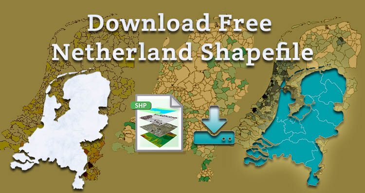 Download Free Netherland Shapefile – Boundary, Polygon