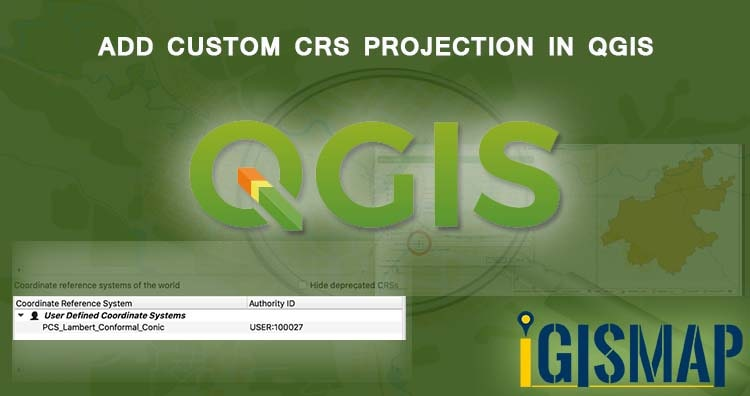 Add Custom CRS projection in QGIS