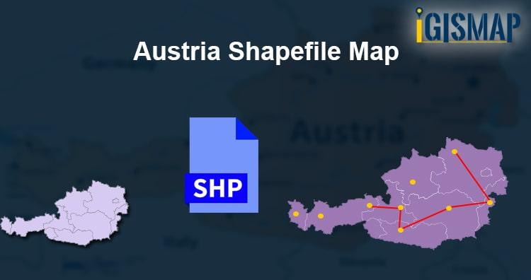 Austria Shapefile Map