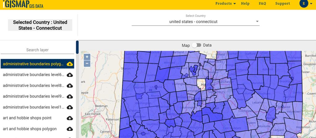 United States - Connecticut GIS Data