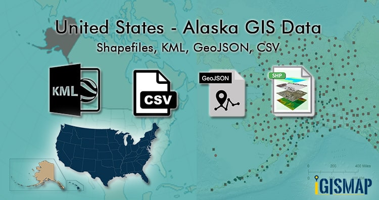 Alaska GIS data – Shapefile, Kml, Administrative boundary, Boroughs, airport, highway line
