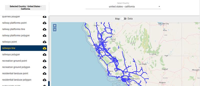 California GIS data - shapefile
