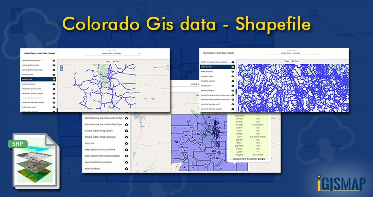Colorado Gis data – Shapefile, Administrative boundary, polygon, county, highway, railway