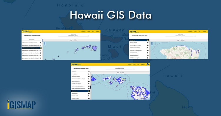 Download The United States – Hawaii Gis Data, Shapefile, counties,