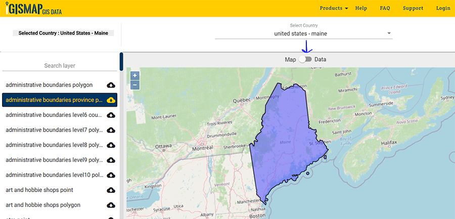 Download Maine State GIS Maps