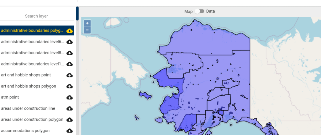 Alaska GIS Data - Boroughs shapefile