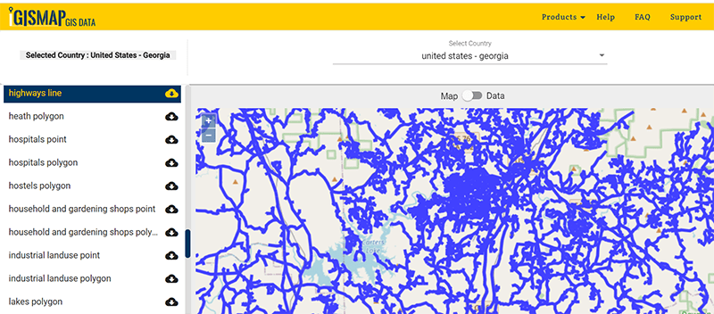 United States - Georgia Gis Data