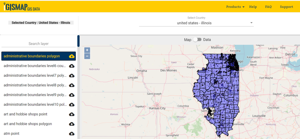 Download Illinois Counties GIS data