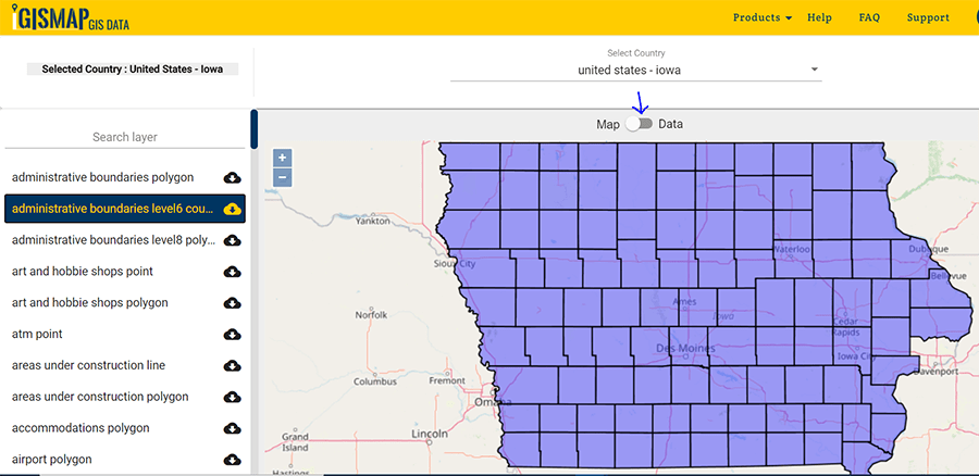 Download Iowa U.S. State GIS Data