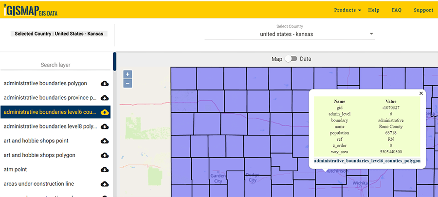 Download Kansas State Gis Data