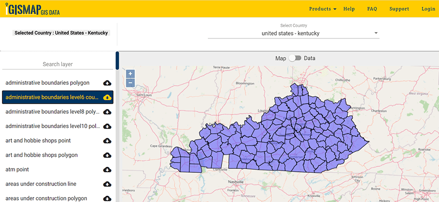 Kentucky State GIS Maps