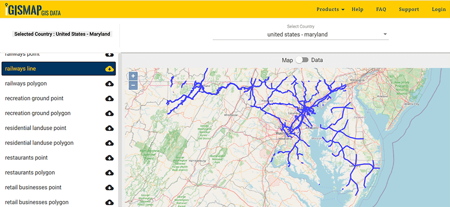 Maryland Counties Gis Data