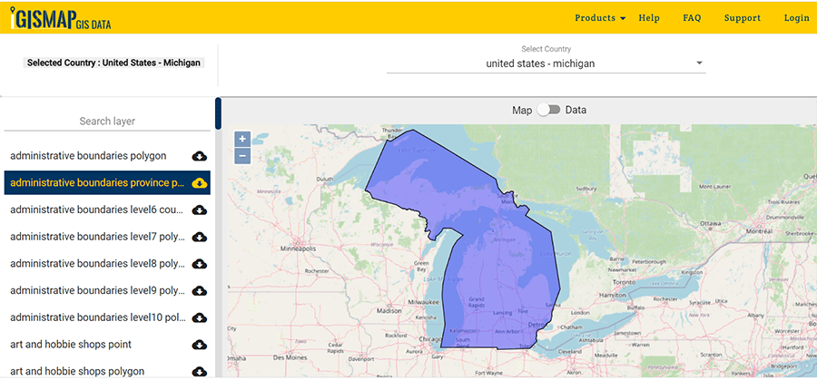 Download Michigan Gis Map