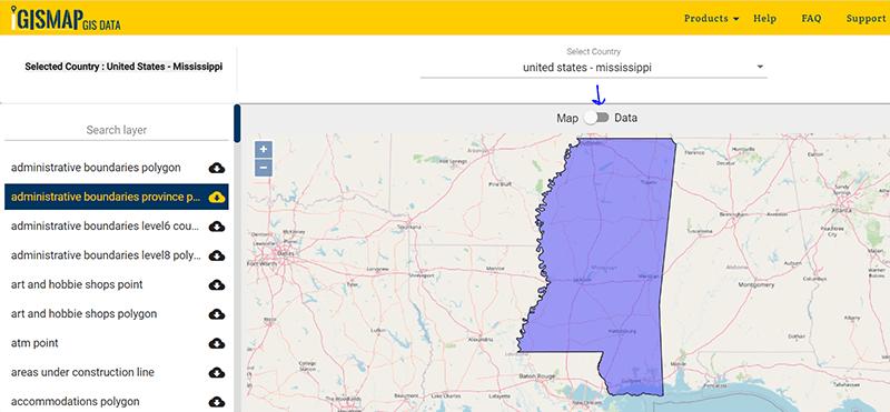 Mississippi state gis maps