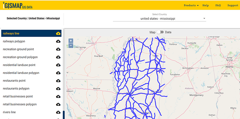 Mississippi state gis data
