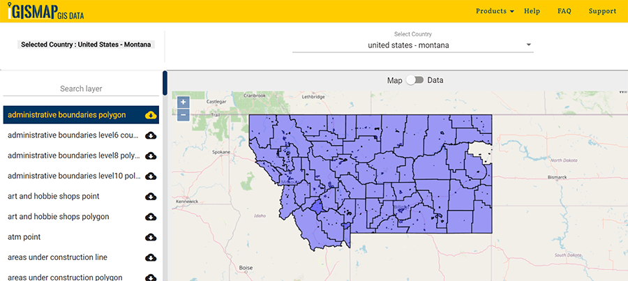 Montana State Gis Data