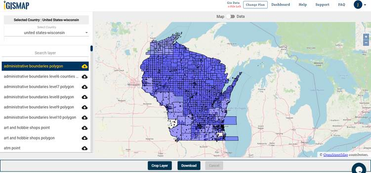 Wisconsin State Shapefile