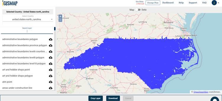 North Carolina Gis maps